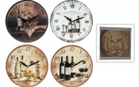 Hodiny nástěnné dřevěné 28 cmProGarden KO-970928