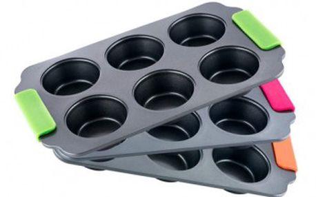 Forma na muffiny se silikonovými rukojeťmi BONIO BERGNER BG-3877zele