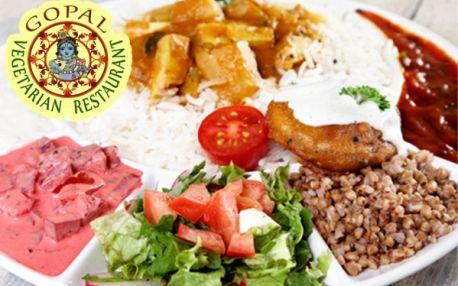 SNĚZ, KOLIK MŮŽEŠ v nejznámější vegetariánské restauraci GOPÁL! Ochutnejte skvělá bezmasá jídla inspirovaná Indií a připravená jen z těch nejčerstvějších surovin! Restaurace v samém centru Prahy pod Pražským hradem!