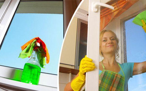 Oboustranné mytí oken včetně parapetů