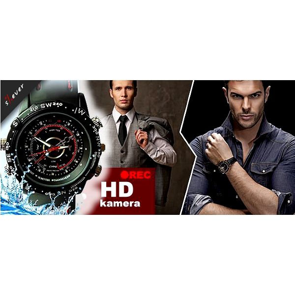 Špionážní hodinky, které Vám nejen ukáží čas, ale nahrají také video či pořídí fotografie. Takové hodinky by Vám záviděl i James Bond.