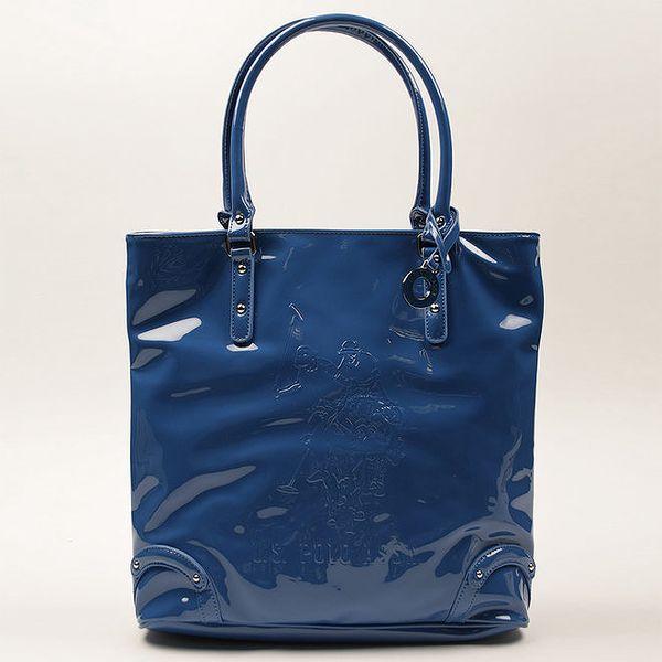 Dámská modrá lesklá kabelka U.S. Polo