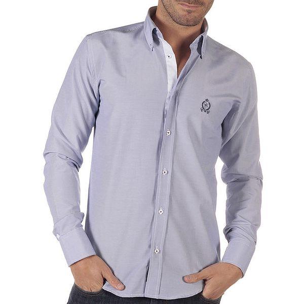 Pánská modrá košile s proužky CLK