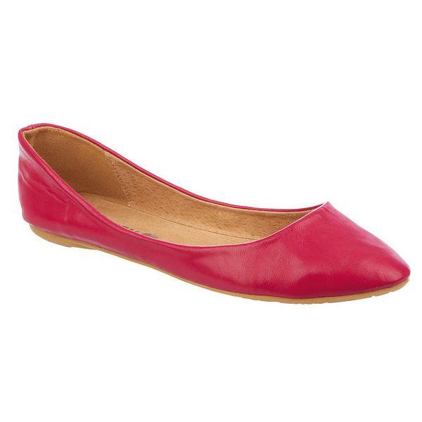 Dámské malinově červené balerínky Betsy