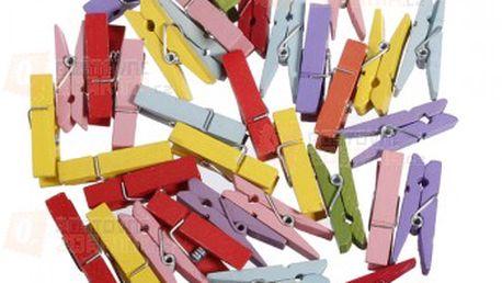 Dřevěné kolíčky v pestrých barvách - 100 kusů a poštovné ZDARMA! - 14603857