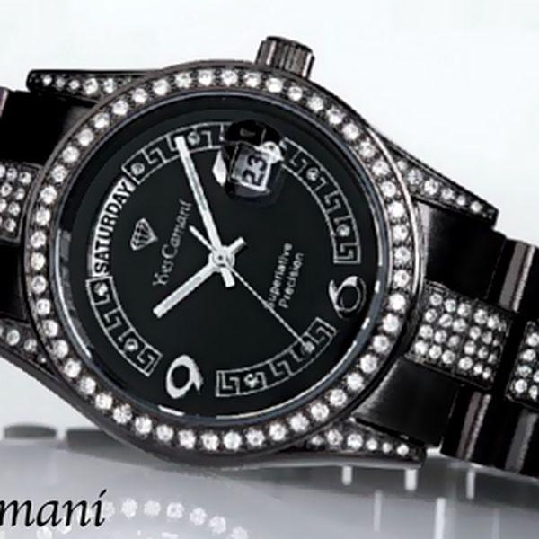 Luxusní dámské hodinky Yves Camani Tiberius Black s doručením zdarma