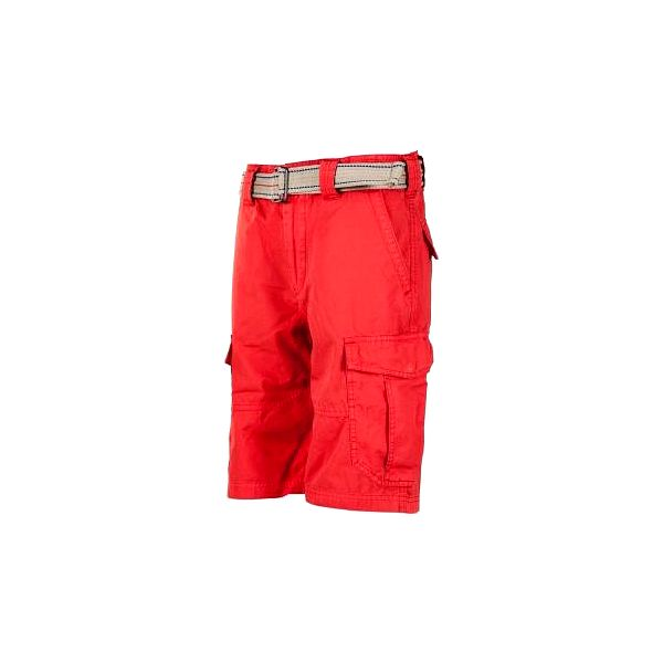 Russell Athletic CARGO SHORTS WITH BELT červená XL