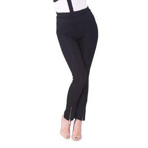 Dámské černé kalhoty se zipem Arefeva