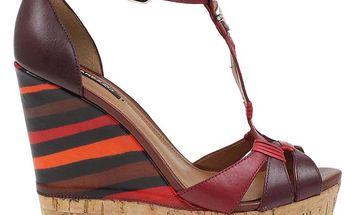 Dámské vícebarevné boty na vysokém klínu Arezzo