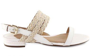 Dámské bílé kožené sandálky Arezzo