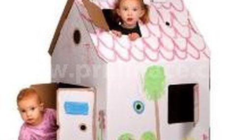 Domeček pro děti z kartonu - namalujte si jej dle své fantazie!