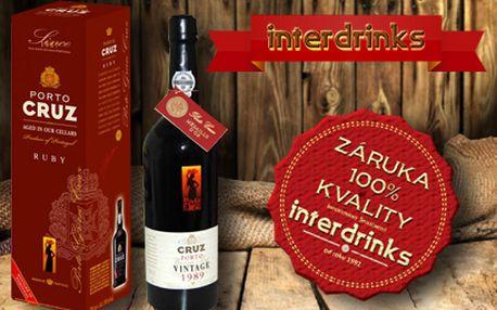 Portské víno PORTO CRUZ od 209 Kč! Nově také zaslání poštou!