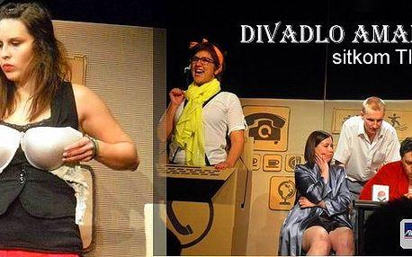 Pojďte do divadla -Divadlo Amadeus uvádí komedii Tlačítko ve světové premiéře! - Svižný a ryze český sitkom Michala Jakla vyniká vtipnými a skvěle padnoucími dialogy a neotřelou zápletkou.