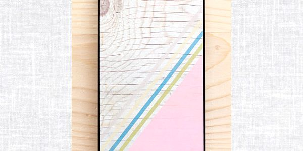 Obal na iPhone 5, Diagonal Stripes Pastel Pink wood/black