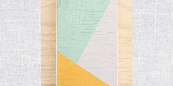 Obal na Samsung Galaxy S3, Sunny Yellow & Mint geometric wood/white