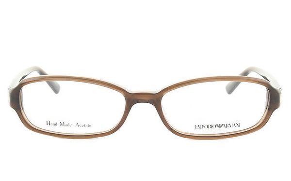 Dámské oválné hnědé brýlové obroučky Emporio Armani