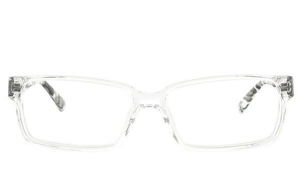 Transparentní brýlové obroučky s žíhanými stranicemi Emporio Armani