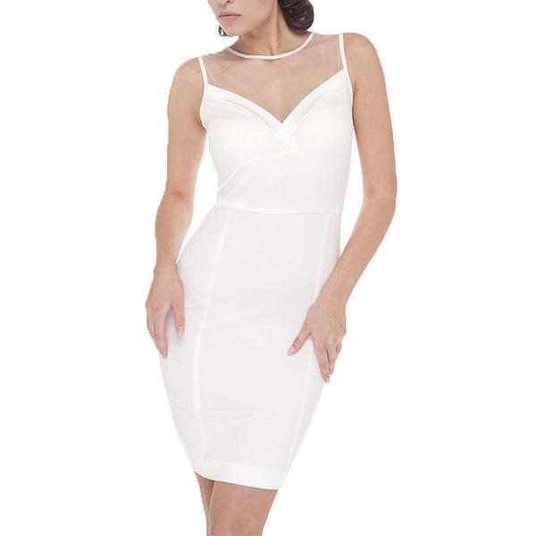 Dámské bílé šaty bez rukávů Arefeva