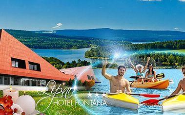 Léto na Lipně v oblíbeném Hotelu Fontána***! 3 DNY pro 2 osoby včetně POLOPENZE, volného vstupu do BAZÉNU, FITNESS a plno dalších slev díky LIPNO CARD! Jen 2599 Kč! Užijte si úžasnou přírodu a relax přímo u Lipenské přehrady do 8/2014!