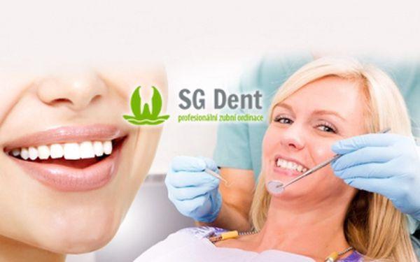 Zářivě bílý úsměv díky KOMPLETNÍ ÚSTNÍ HYGIENĚ a NEPEROXIDOVÉMU BĚLENÍ ZUBŮ! Kvalitní služby, profesionální přístup a příjemné prostředí! To vše Vám nabízí Zubní klinika SG Dent na Praze 9 již od bezkonkurenčních 599 Kč!