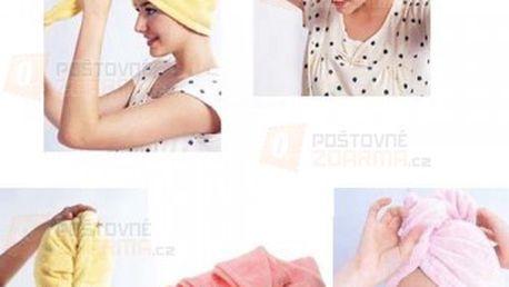 Ručníkový turban pro mokré vlasy a poštovné ZDARMA! - 14701940
