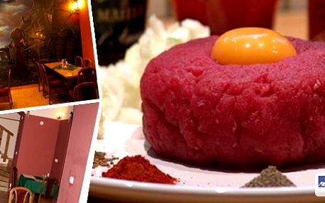 Vynikající tatarský biftek a k tomu 12 ks křupavých topinek v restauraci U Ztracených klíčů. Dopřejte sobě a svým kamarádům gurmánský zážitek v útulné restauraci nedaleko Vyšehradu. Nepropásněte tuto jedinečnou nabídku a přijďte ochutnat!