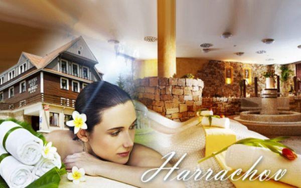 Luxusní šestidenní WELLNESS dovolená v centru Harrachova! Krásný Spa hotel Bílý Hořec*** s PLNOU PENZÍ, neomezeným vstupem do ŘÍMSKÝCH LÁZNÍ, Harrachov card a dalšími bonusy za 4940 Kč PRO DVA! Vouchery platí do 12/2014!