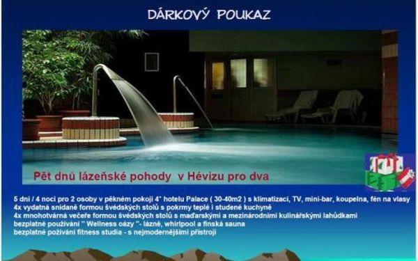 5 dní pro dva v Hévizu - luxusní wellness u termálního jezera s polopenzí v Palace Hotelu 4*