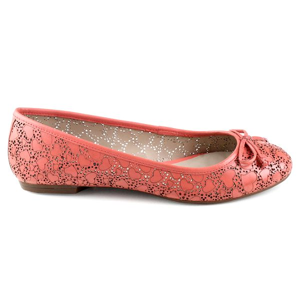Dámské růžové perforované balerínky Made In
