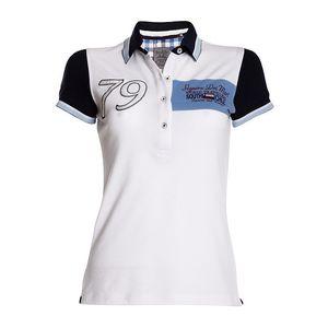 Dámské bílé polo tričko s tmavými rukávy Signore dei Mari