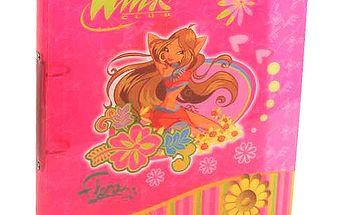 Šanon A4 Winx Club Šanon A4 2 rings Flora květiny růžová