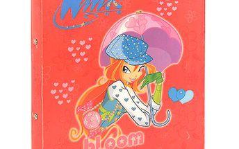 Šanon A4 Winx Club Šanon A4 2 rings deštníky Enchantic Bloom s děštníkem červen