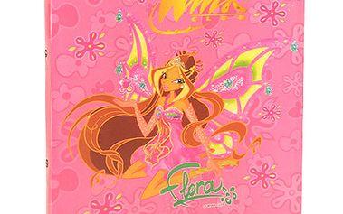 Šanon A4 Winx Club Šanon A4 2 rings deštníky Enchantic Flora s křídly růžová