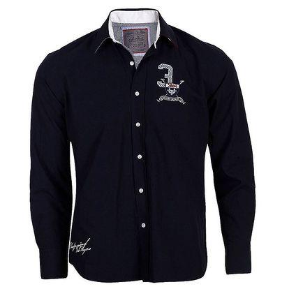 Pánská tmavě modrá košile Signore dei Mari