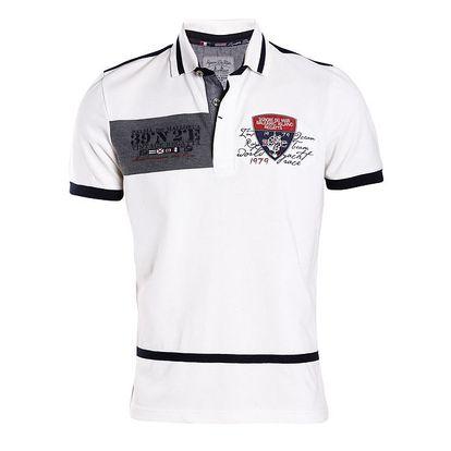 Pánské bílé tričko s modrými zády Signore dei Mari