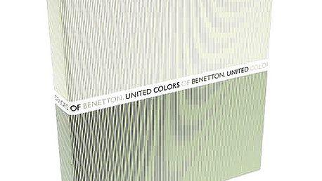 Stylový šanon formátu A4 z kolekce Benetton, barva béžovo-zelená.