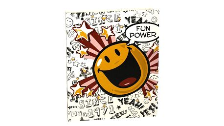 Šanon A4 Smiley World Šanon A4 2 kroužky PVC Fun Power white