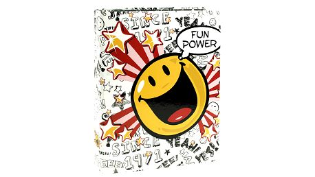 Šanon A4 Smiley World Šanon A4 2 kroužky Fun Power bílá