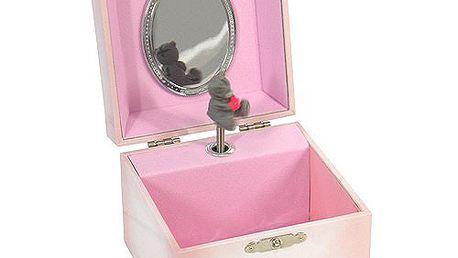 Nádherná hrací šperkovnice s motivem medvídka Me to You, barva růžová