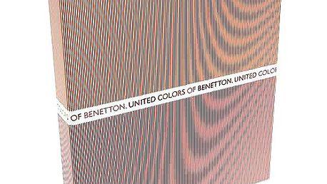 Stylový šanon formátu A4 z kolekce Benetton, barva oranžovo-červená.