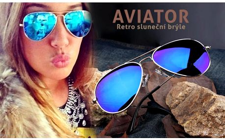 Sluneční brýle Aviator s poštovným v ceně
