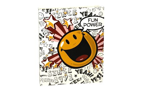 Šanon A4 Smiley World Šanon A4 2 kroužky PVC Fun Power white