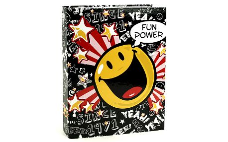 Šanon A4 Smiley World Šanon A4 2 kroužky Fun Power černá