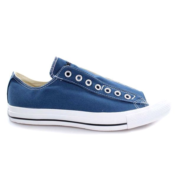 Modré nízké tenisky bez tkaniček Converse