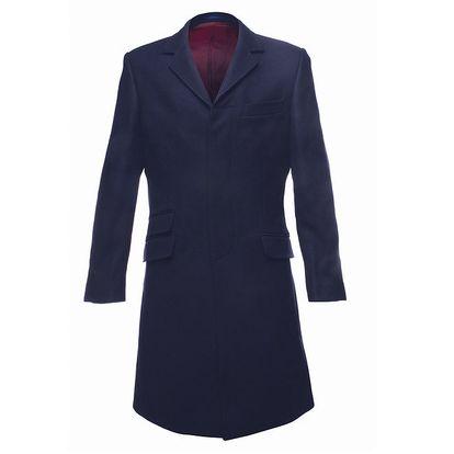 Pánský temně modrý kabát Merc