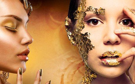 Exkluzivní lifting obličeje a pleťová maska se zlatem