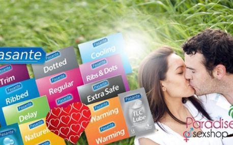 Extra balíček 34 kondomů a 2 lubrikantů značky pasante za 299 kč včetně poštovného! Užijte si chvíle plné vášně bezpečně, se vzrušující slevou 57%!