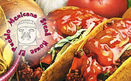 50% sleva na veškerá jídla v mexické restauraci el pueblo!
