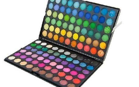Velká paleta očních stínů 120 barev. Bezva darek pro kazdou ženu !
