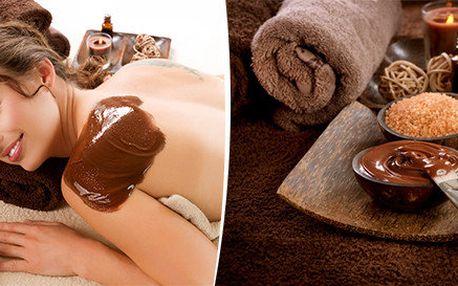 Luxusní čokoládová masáž vč. peelingu a zábalu pro ženy